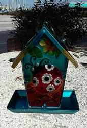 Ladybug Bird Feeder