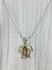 Turtle Iredescent Tan Necklace