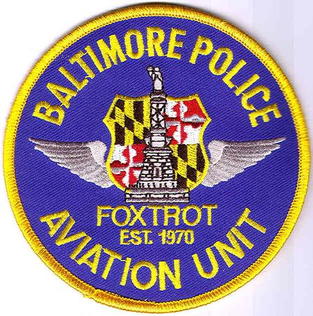 BALTIMORE MARYLAND POLICE PATCH