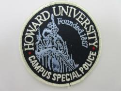 School: DC, Howard Univ. 1867 Campus Special Police Patch