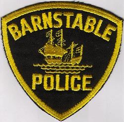 Barnstable Police Patch (yellow ship, cut edge)(MA)