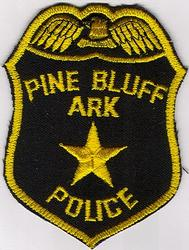 Pine Bluff Police Patch (star/gold edge) (AR)