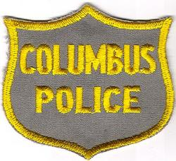 Misc: Columbus Police Patch (cap/tan/twill/cut edge)