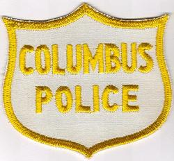 Misc: Columbus Police Patch (cap/white/twill/cut edge)