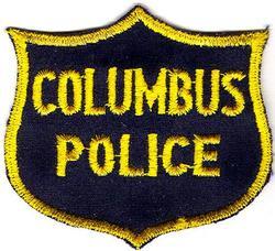 Misc: Columbus Police Patch (cap,black/twill,cut edge)