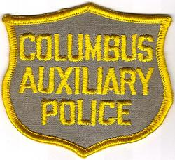 Misc: Columbus Auxiliary Police Patch (cap/tan/twill)