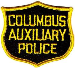 Misc: Columbus Auxiliary Police Patch (cap/black/felt)