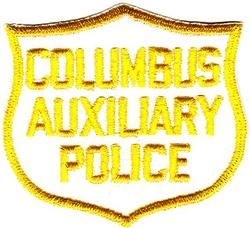 Misc: Columbus Auxiliary Police Patch (cap/white/twill/cut edge)