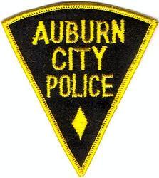 Auburn City Police Patch (yellow/black/triangular)(NY)