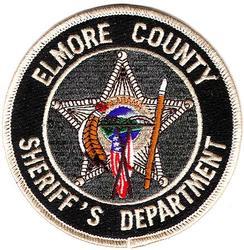Sheriff: AL, Elmore Co. Sheriffs Dept. Patch (gray/black)