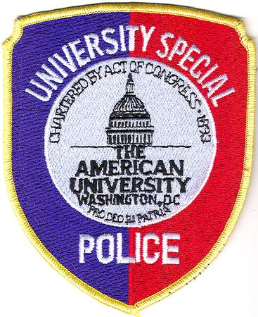 The American Univ Special Police Washington Dc Police Patch