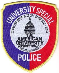 School: DC, The American Univ. Special Police Patch (capital)