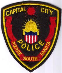 Pierre Capital City Police Patch (felt)(SD)