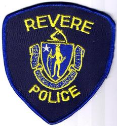 Revere Police Patch (blue twill/yellow letters)(MA)