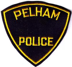 Pelham Police Patch (black felt)(MA)
