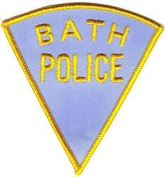 Bath Police Patch (light blue)(ME)