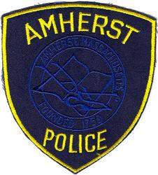 Amherst Police Patch (navy twill)(MA)