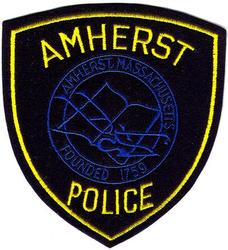 Amherst Police Patch (black felt)(MA)