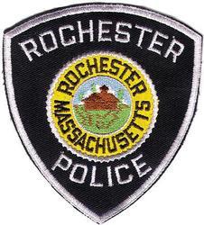 Rochester Police Patch (twill/gray cut edge)(MA)