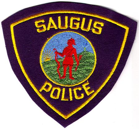 Saugus Police Patch (navy felt)(MA)