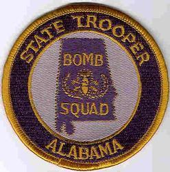 State: AL, Bomb Squad State Trooper Patch