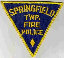 Springfield Twp. Fire Police Patch (PA)