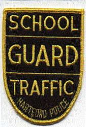 School: CT, Hartford Police School Guard Traffic Patch (blk/ylw)