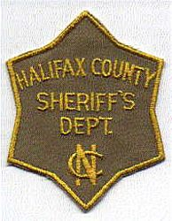 Sheriff: NC, Halifax Co. Sheriffs Dept. Patch