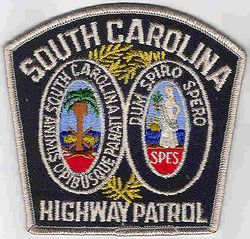 State: SC. Highway Patrol Patch (large, color, current)