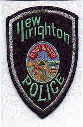 New Brighton Police Patch (silver tinsel) (MN)
