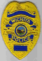 Wichita Police Patch (yellow, badge size)) (KS)