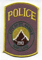 Mt. Rainier Police Patch (mountain) (MD)