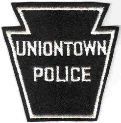 Uniontown Police Patch (white edge, felt) (PA)