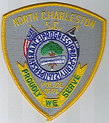 North Charleston Police Patch (yellow edge) (SC)
