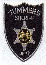 Sheriff: WV. Summers Sheriffs Dept. Patch (black/gray)