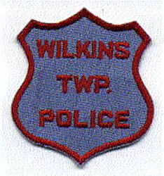 Wilkins Twp. Police Patch (blue/red) (PA)
