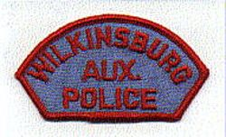 Wilkinsburg Aux. Police Patch (red/blue) (PA)