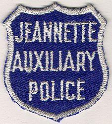 Jeannette Aux. Police Patch (cap size) (PA)