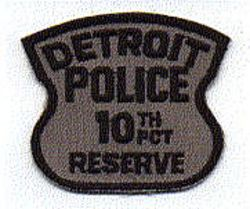 Detroit Police 10th PCT Reserve Patch (MI)
