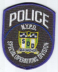 N.Y.P.D. Special Operations Division Patch (NY)