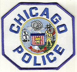 Chicago Police Patch (blue letters/edge, twill) (IL)