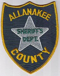 Sheriff: IA, Allanakee Co. Sheriffs Dept. Patch