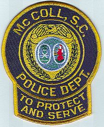 McColl Police Patch (SC)