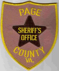 Sheriff: VA. Page Co. Sheriffs Office Patch