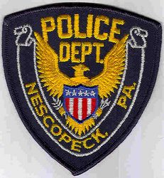 Nescopeck Police Patch (blue edge) (PA)