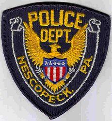 Nescopeck Police Patch (blue edge) (PA)