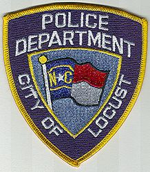 Locust Police Patch (gold edge) (NC)