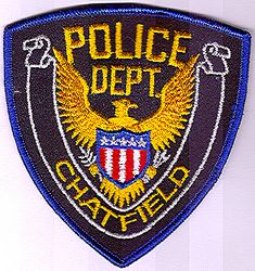Chatfield Police Patch (blue edge) (MN)