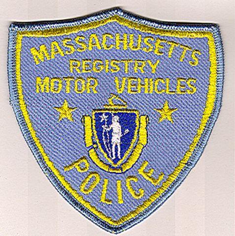 Motor vehicles registry massachusetts ma police patch for Massachusetts registry of motor