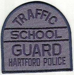 School: CT, Hartford Police School Guard Traffic Patch (blue)